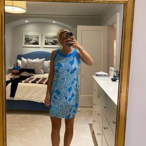 Jude Connally Dresses - Jude Connally blue paisley dress